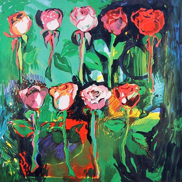 Nine Pink Roses