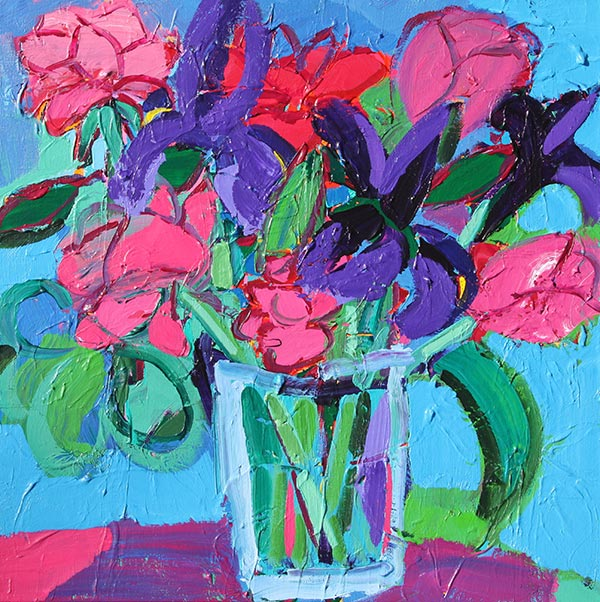 Roses With Iris