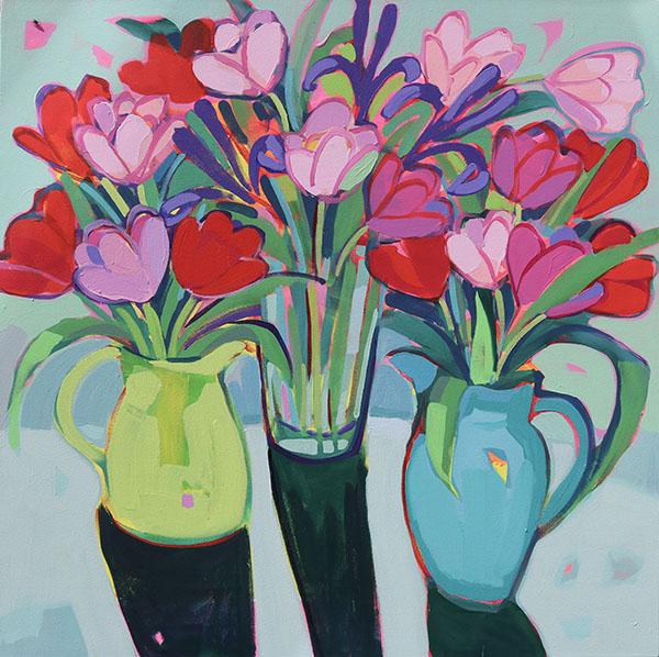 Overlapping Tulips