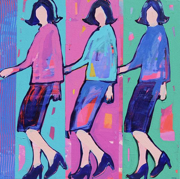 Modern Woman 86 cm x 86 cm